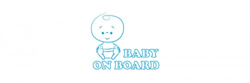 Aufkleber Baby on Board blau